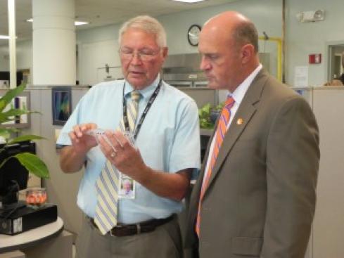 Clemson's President Visits GGC