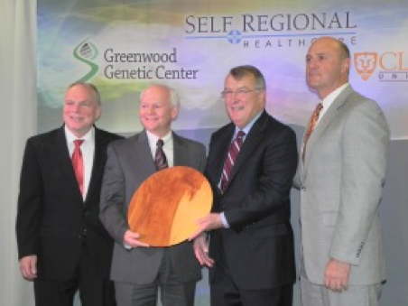 Self Regional Healthcare Joins GGC and Clemson to Create National Hub for Genetics Research
