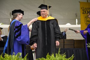 GGC's Dr. Steve Skinner at Wofford Commencement